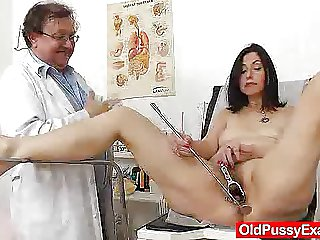 Gray oma matriarch old hairy pussy inspection