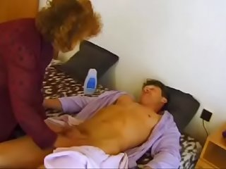 Old mama goes crazy on son's cock