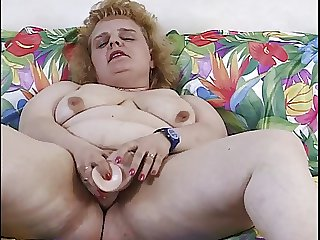 oma bbw mature concerning toy