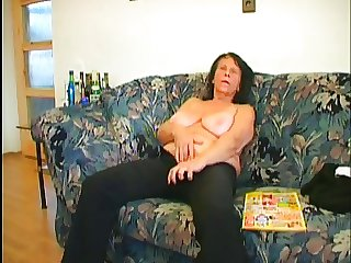 superhorny granny gets fucked good