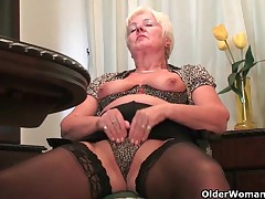 British grannies non-existence you to watch as they masturbate