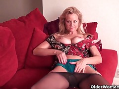 Mom soaks will not hear of panties with pussy juice