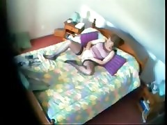 Invading privacy of my mom masturbating 2. Hidden cam