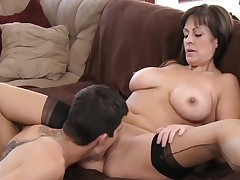 Beautiful mommy with very unerring circle & guy