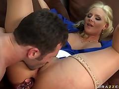 Unpredictable intensify student James Deen drills her slutty instructor Phoenix Marie