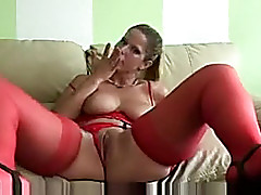 German hot livecam woman i'd like to turtle-dove coddle in outstanding red fishnet outfit