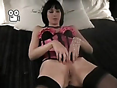 Sexy darksome brown woman i'd comparable to to intrigue b passion wife in pink corset and black stockings