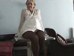 Kinky Granny Teasing Her Matured Pussy