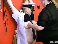 Dirty old woman gets horny part2
