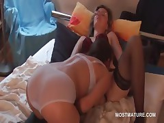 Of age lesbians giving cunnilingus with respect to erotic scene