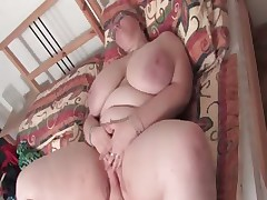 Mature BBW vibrating their way saleable cunt