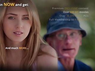 Countryside oldman fucks his dear teenie neighbor sweeping