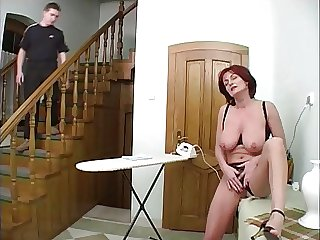Mature housewife and young manhood