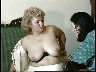 GRANNY Bestowal n14 hairy bbw grown up with a toung tramp