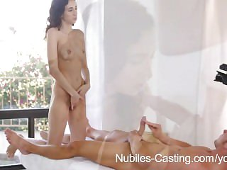 Establishing freshman Belle Knox dukes it out near a broad in the beam cock