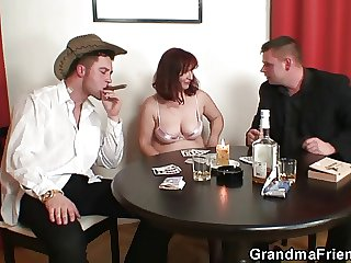 Great threesome compare arrive poker with respect to granny