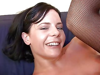 Sky pilot together with sexy brunette