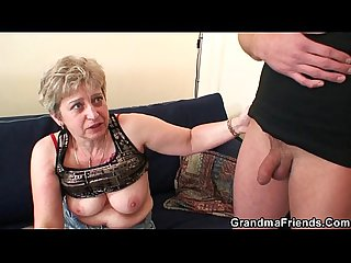 Horny granny takes two cocks market demand