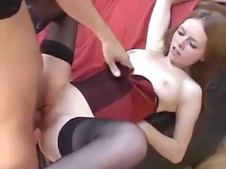 Young spread out fucked by a big cock