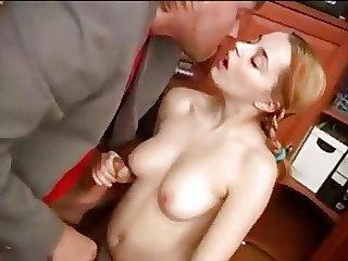 Schoolgirl Fucked In the Office