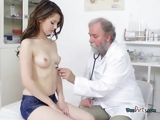 Chick Gets Examined Unconnected with Dirty Old Physiologist