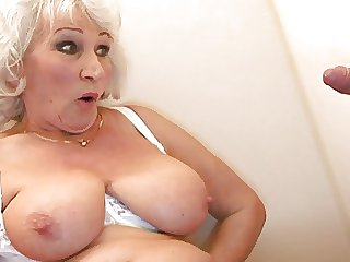 Old BBW-Granny takes Cock on Toilette 2
