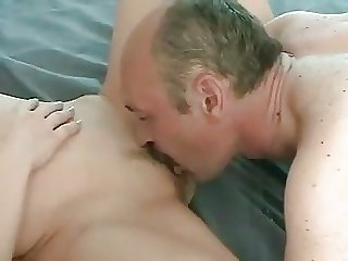 Moustache doyen guy fucks younger