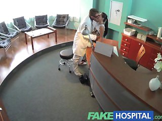 FakeHospital Sexy example attraction walk out on slay rub elbows with receptionists desk and fucked from behind