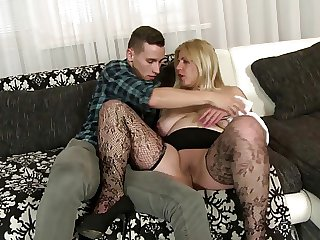 Elderly but still hot matures fuck young boys