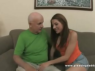 Young Slut Evilyn Fierce Fuck Old Grandfather