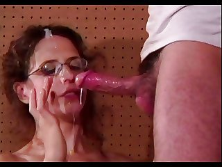 Hairy Cunted Anal Milf Lena's Glasses Jizzed Chiefly
