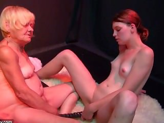 Old BBW Granny likes sex with young randy sexy tolerant