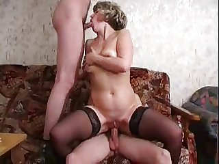 Older foetus takes two younger cocks
