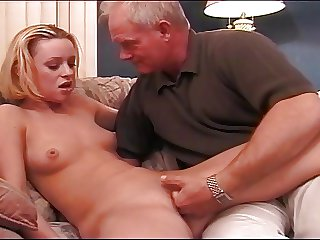 Blonde Infant Enjoying Daddy's Cock
