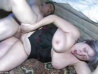 OldNanny Chubby Granny is very horny great triplet