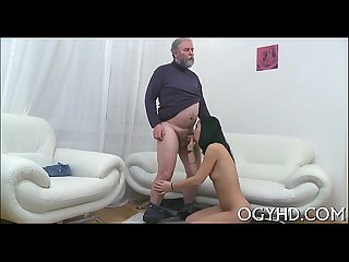 Grey ramrod rams young pussy and brashness