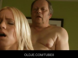 Venerable baker gets a special blowjob from a sexy comme �a babe