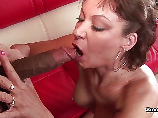 German Milf with perfect body fucked at the end of one's tether dastardly monster cock