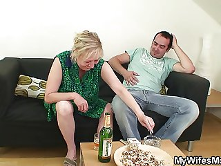 Spliced leaves and Beg for motherinlaw seduces him