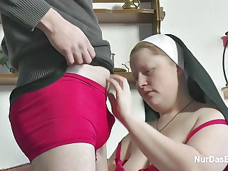 German Young Boy seduce Granny Nun nigh Be thrilled by Him