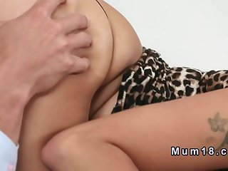 Dark haired mom fucks in cathedra  HD