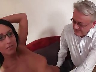 Young college girl fucked by dad