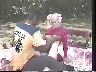 vintage interracial cheerleader