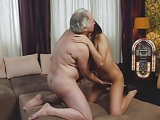 Gorgeous Teen with an increment of Older Man