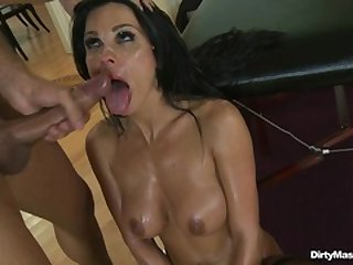 Busty Andrea pussy speculum analysis by old gyno doc