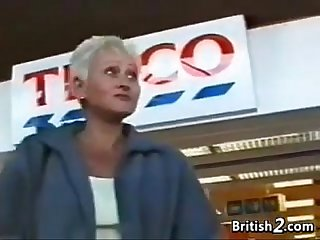 Blonde Grandma Foreign Britain Wants Load of shit