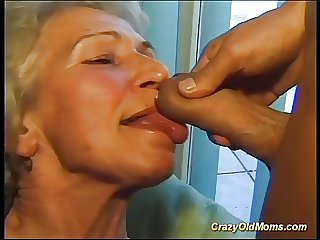 Cray superannuated mom gets fucked hard thither a big cock taking cum