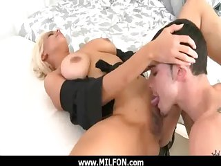 Sex-mad milf get a hard dong from a sex tracker 27