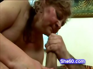 Horny old skank takes approximately a big horseshit added to rides it hard