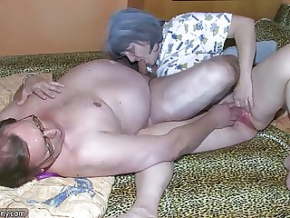 OldNanny Grey granny plus grandpa is enjoying nigh young woman